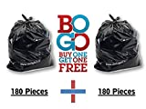 #1: Buy One Get One Free (BOGO Offer)! 180pcs+180pcs Waste Garbage Disposal Bags, Eco-friendly, Made from Reused Material. Size 19 inch x 21 inch (Medium) (Swadesh)
