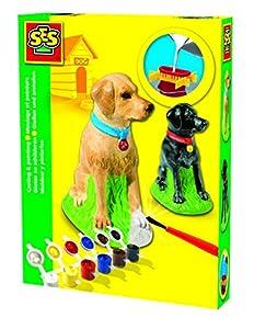 SES creative 01279 - Juego de moldeado y pintura de perro labrador importado de Alemania