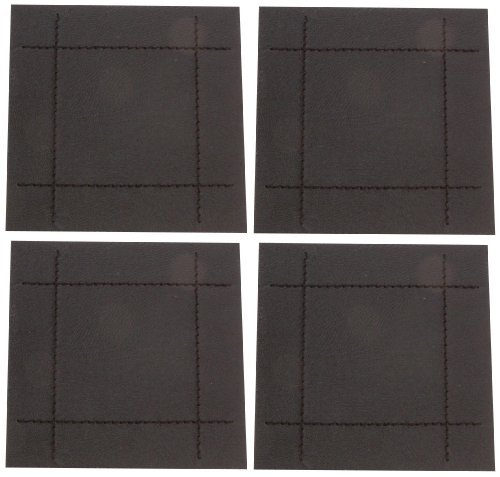 rayware-faux-leather-stitch-4-coasters-black