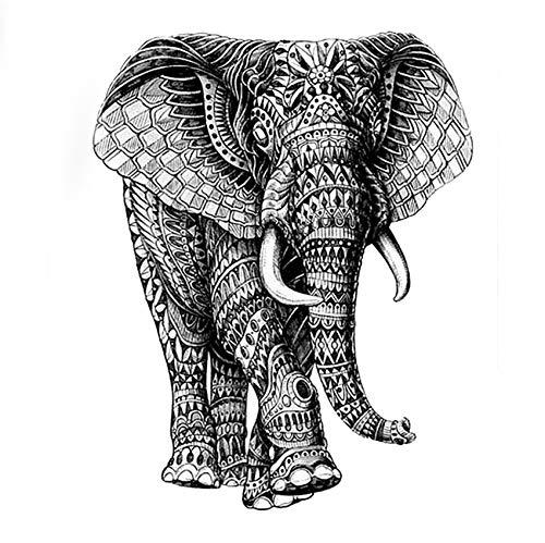 yyyDL Wasserdicht Temporäre Tätowierung aufkleber hohe qualität Mechanische elefanten Gefälschte Tätowierung sleevesTatoo16 * 12,5 cm 4 stücke