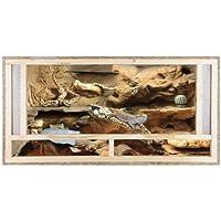 Repiterra Terrarium Reptiles & Batraciens En Bois OSB - Facile à Monter - Aeration Sur La Face Avant - 120x60x60cm