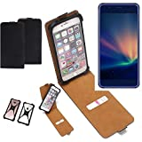 K-S-Trade Flipstyle Hülle für Hisense A2 Pro Handyhülle Schutzhülle Tasche Handytasche Case Schutz Hülle + integrierter Bumper Kameraschutz, schwarz (1x)