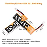 RCruning 4pcs 550mAh 1S HV 3.8V LiPo Battery 50C Rechargeable Battery JST-PH 2.0 PowerWhoop mCPX Connector for Inductrix FPV Plus Micro FPV Racing Drone Like Tiny 8XMirarobot S85 Whoop KK