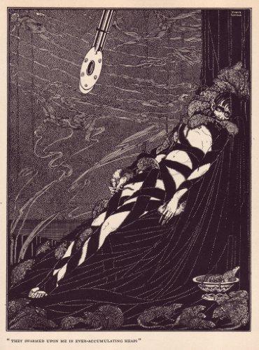 Harry Clarke, swarmed Sie auf ME IN ever-accumalating viele, von die Grube und das Pendel, von Tales Of Mystery & Imagination 1919von Edgar Allan Poe 250gsm, Hochglanz, A3, vervielfältigtes Poster