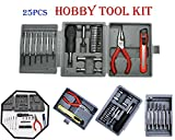 #5: Hand Tool Kit Set - 25 Piece Mini Hand Tool Set, Standard Screwdriver Set (25 in 1) | Tool kit set for Mobiles,Cars,Computers,Watches ( Screw Driver, Cutter and pliers etc with set of 25pcs ) | Hobby Tools Kit | Screwdriver Set |
