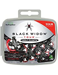 Softspikes Black Widow Tour Cleat Fast Twist (16 Count Kit) by Softspikes