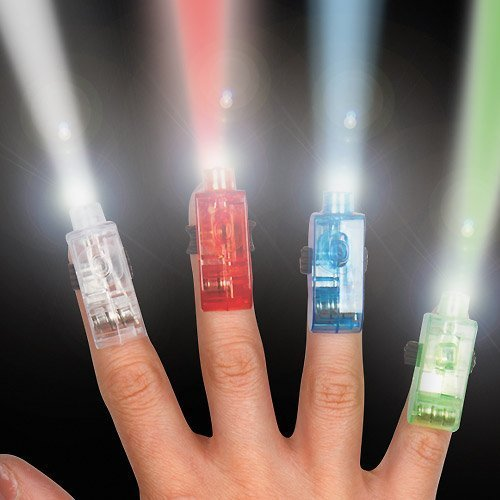 Finger Lights Perfect Stocking Filler for Children to Play with(Pack of 4)