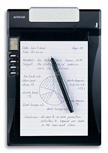 A5 DigiMemo A501, ACECAD Digital Notepad DIN-A5 Format mit internem Speicher und digitaler Kugelschreiber (DigiPen P100), inkl. USB-Kabel und Software