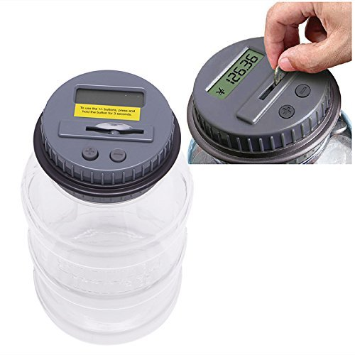 Feamos Automatic Counting Coin Piggy Bank Digital Electronic Saving Money Box Jar