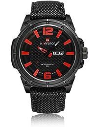 Gokelly Marca de lujo naviforce Moda Japón movimiento Swiss Militar Hombre  Relojes deportivos 30 M impermeable 02cae82564ed