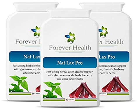 NAT LAX PRO - Nat Lax Pro is the Ultimate Herbal Laxative – It Uses Only POWERFUL HERBAL Ingredients Like RHUBARB WILD YAM and GARLIC To Quickly Relieve a Blocked Colon / Bowel and is based on the World Famous Dr Christopher Formula - Specially Formulated to give Quick relief from Constipation and other Digestive Disorders Like IBS or Irritable Bowel Syndrome - FEEL FRESH and CLEAN - 270 Herbal Capsules