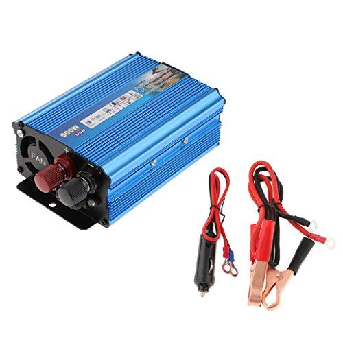 D DOLITY 500 Watt 12 V / 24V DC zu 220V AC Wechselrichter Power Inverter mit Netzteil - Blau (12 Volt Zu Ac Inverter)