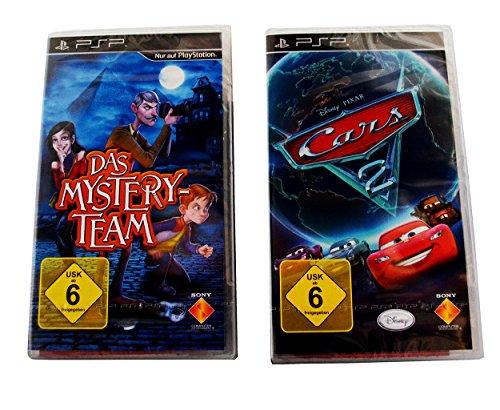 2er Pack Playstation Portable 2 PSP Spiele - Das Mystery Team und Cars 2 - Das Videospiel