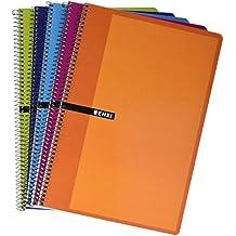 Enri 100430083 - Pack de 5 cuadernos espiral, tapa dura, Fº