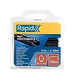 Rapid, 40108804, grapas de rejilla galvanizadas, negras, VR22, 5-11mm, 215piezas, alto rendimiento