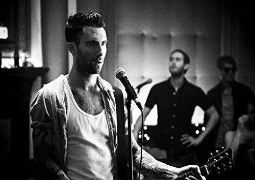 """37, motivo Maroon 5 Adam Levine Jesse James bastoncino, motivo """"Topolino"""", modello """"Madden"""" Valentine Flynn PJ Morton-Album fotografico grande in metallo, motivo: Rock Music Band, Best per foto con stampa A3 """"unico"""