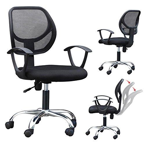 Yaheetech Bürostuhl Schreibtischstuhl Chefsessel 150kg Belastbar mit Rollen, Ergonomischer höhenverstellbar