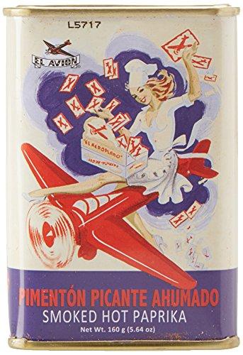 El Avion Pimentón Picante Ahumado - scharfes Paprikapulver, geräuchert aus Spanien/Valencia in einer attraktiven Dose, 2er Pack (2 x 160 g)