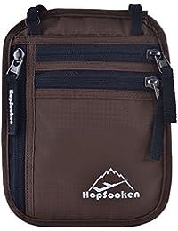 Hopsooken Pochettes tour de cou RFID Pochette de Voyage Portefeuille Passeport Organisateur