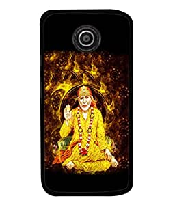 Fuson Designer Back Case Cover for Motorola Moto E2 :: Motorola Moto E Dual SIM (2nd Gen) :: Motorola Moto E 2nd Gen 3G XT1506 :: Motorola Moto E 2nd Gen 4G XT1521 (Baba God Jai Shirdi Maharashtra Guru)