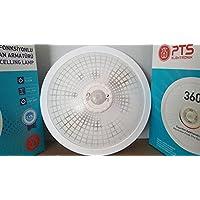 PTS-Elektronik Lampe mit Bewegungsmelder PTS-WEISS Deckenlampe Wandlampe treppenlampe