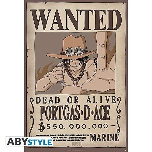 """ABYstyle - ONE PIECE - Poster """"Wanted Ace"""" (91.5x61)"""