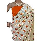 Harikrishnavilla Women's Latest Designer Party Wear New Collection Chanderi Cotton Bollywood Trendy Elegant 2018 Latest Designe Saree For Women With Bangalore Silk Unstitched Blouse ( Multi-Colour Butterfly, Free Size) - B07CJZTZVT