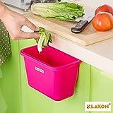 #10: Klaxon Hanging Food Waste Garbage - Plastic Hanging Trash Bin Garbage Holder - Red