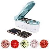 L.SMX Mandoline Gemüsehobel, Manuelle Zwiebelhacker Mandoline Slicer Dicer Mit 3 Austauschbaren Klingen Veggie Chopper Cutter Kitchen Tools