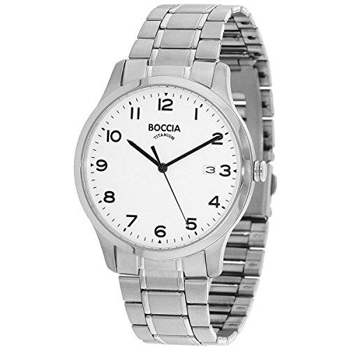 Boccia Herren Analog Quarz Uhr mit Titan Armband 3595-01