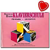 Bastiens Basis Klavierschule für Kinder Grundstufe - ein umfassendes Klavierstudienwerk, welches dem Anfangsschüler den richtigen Start ermöglicht - mit bunter herzförmiger Notenklammer