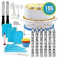 أدوات تزيين الكيك من مينستياي 106 قطعة من مستلزمات الخبز للمبتدئين، مطبخ منزلي مناسب 106 pieces MHLMAINSTAYAEH29855-2CTSA