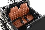 RIRICAR Ford Ranger Wildtrak Luxury Elektrisches Auto für Kinder, 2.4Ghz Fernbedienung, 2 MOTOREN, Zweisitzer in Leder, Weiche Eva Räder, schwarz, MP3 USB SD, Original-Ford-Lizenz Vergleich