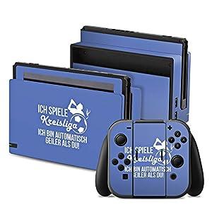 DeinDesign Nintendo Switch Folie Skin Sticker aus Vinyl-Folie Aufkleber Football Fussball Kreisliga