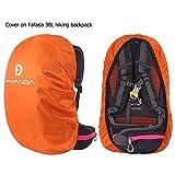 Fafada Nylon Rucksack Regenschutz Regenhülle Raincover für Backpack 25-38L Orange M -