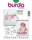Burda 9712 Schnittmuster Overall Kleid Hose Jacke Hut (Baby, Gr, 62 - 86) Level 3 mittel