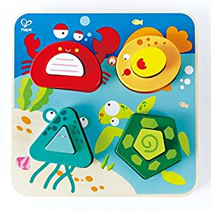 Hape- Puzzle Infantil encajable Océano, Multicolor (Barrutoys E0436)