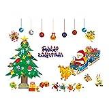 LUOEM Natale Vetrofanie Adesivi Parete Adesivi Sticker Art decorazione della parete per Camera da letto Nursery Casa Decor 70 * 50cm