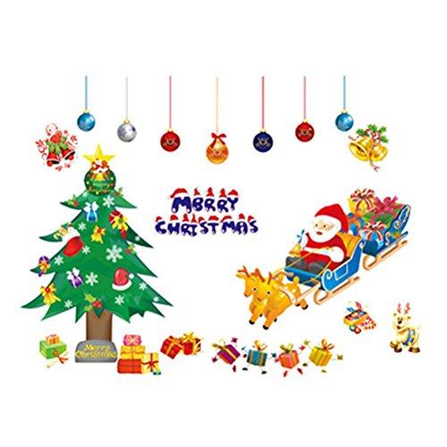 Toyvian Vinilos de Navidad para Ventana de árbol de Navidad Vinilos de...