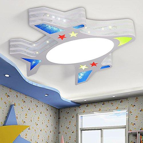 WAWZW Deckenlampe Cartoon Flugzeuge Licht Kinder- Deckenleuchte junge Mädchen Schlafzimmer Room Leuchten kreative Spielwiese Lichter, 55*54 cm 26 W drei Farbe dimmbare LED