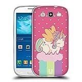 Head Case Designs Frühling Phantastische Einhörner 2 Chubby Soft Gel Hülle für Samsung Galaxy S3 III I9300