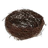 Baoblaze Geflechte Vogelnest Vogel Nest Ostern Dekoration, 3 Größe - 15cm Durchmesser