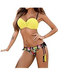 Charming Sexy Boho Style 2 PCS Mujeres Push-up Push-up Bra Bikini Set Traje de baño Traje de baño Traje de baño