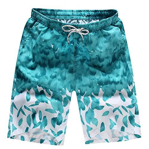 Männer Shorts gedruckt schnell trocken Strand oder tägliche Freizeit und sportliche Kordelzug elastische Taille Fitness Shorts mit bequemer Tasche - French Terry Short Set