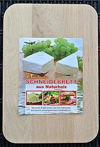 Nature # Schneidebrett aus Naturholz # Holzbrett 21,5 x 14,5 cm # Servieren und Dekorieren Sie Ihre Mahlzeiten auf diesem umweltgerechten Holzbrettchen # Frühstücksbrett eckig # mit abgerundeten Ecken