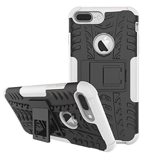 iPhone 7 Plus Hülle, iPhone 8 Plus Hülle, Valenth Dual Layer Schutz High Impact Hybrid Cover Shell für iPhone 8 Plus / iPhone 7 Plus Weiß