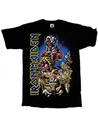 Iron Maiden Somewhere Back in Time Cover OFFICIAL Black T-Shirt