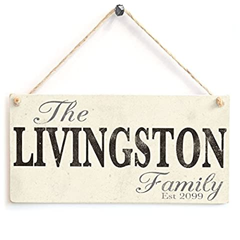 Family Established Plaque - Personalised Family Wooden Sign Gift