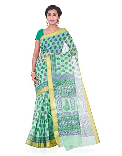 Roopkala Silks & Sarees Cotton Saree (Srs-342_Green)