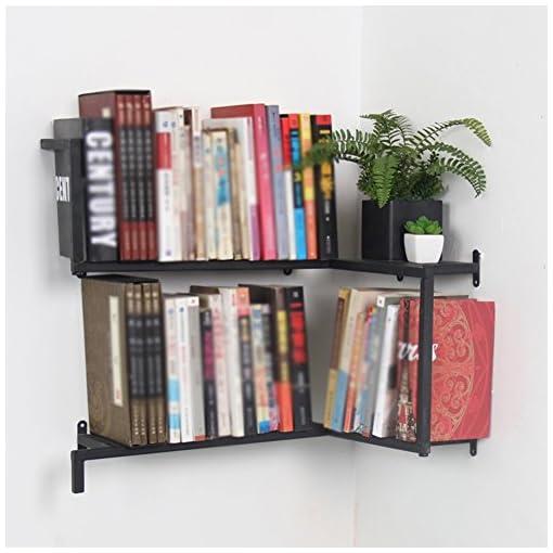 Montaggio Mensole A Muro.Qianda Mensole Da Muro Parete Libreria Montaggio A Parete Scaffale